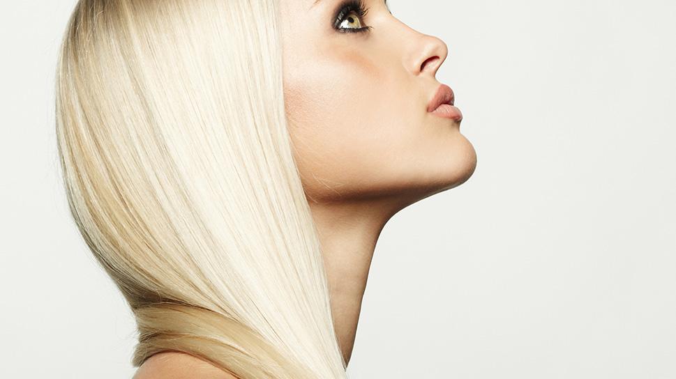 Обесцвечивание волос на лице